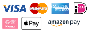 Visa, Mastercard, American Express, iDeal, Amazon Pay, Apple Pay, Klarna Pay Later